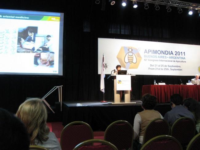 2년에 한번씩 개최되는 세계양봉학회에서 봉독연구결과 발표(아르헨티나) - 한상미 농업연구사 제공